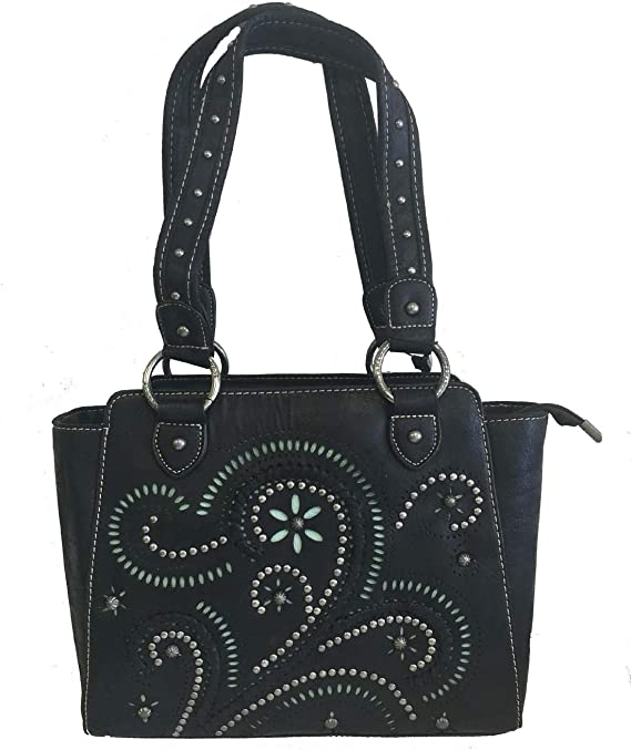Montana West Ladies Concealed Gun Carry Purse Handbag Swirl Cutouts Design