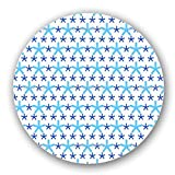 Uneekee Snowflakes Dance On Dots Lazy Susan: Medium, pure birch wooden Turntable Kitchen Storage