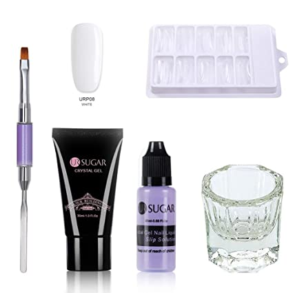 Poly Quick Gel Extension Kit de uñas profesional Pegamento ...