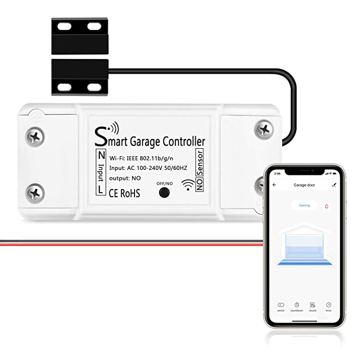 AGSHOME Smart Wi-Fi Garage Door Opener Remote, APP Control, Compatible with Alexa, Google Assistant and IFTTT, No Hub Needed With Smartphone Control