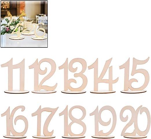 Yissma - Números de Madera para Mesa de Boda, números de Madera ...