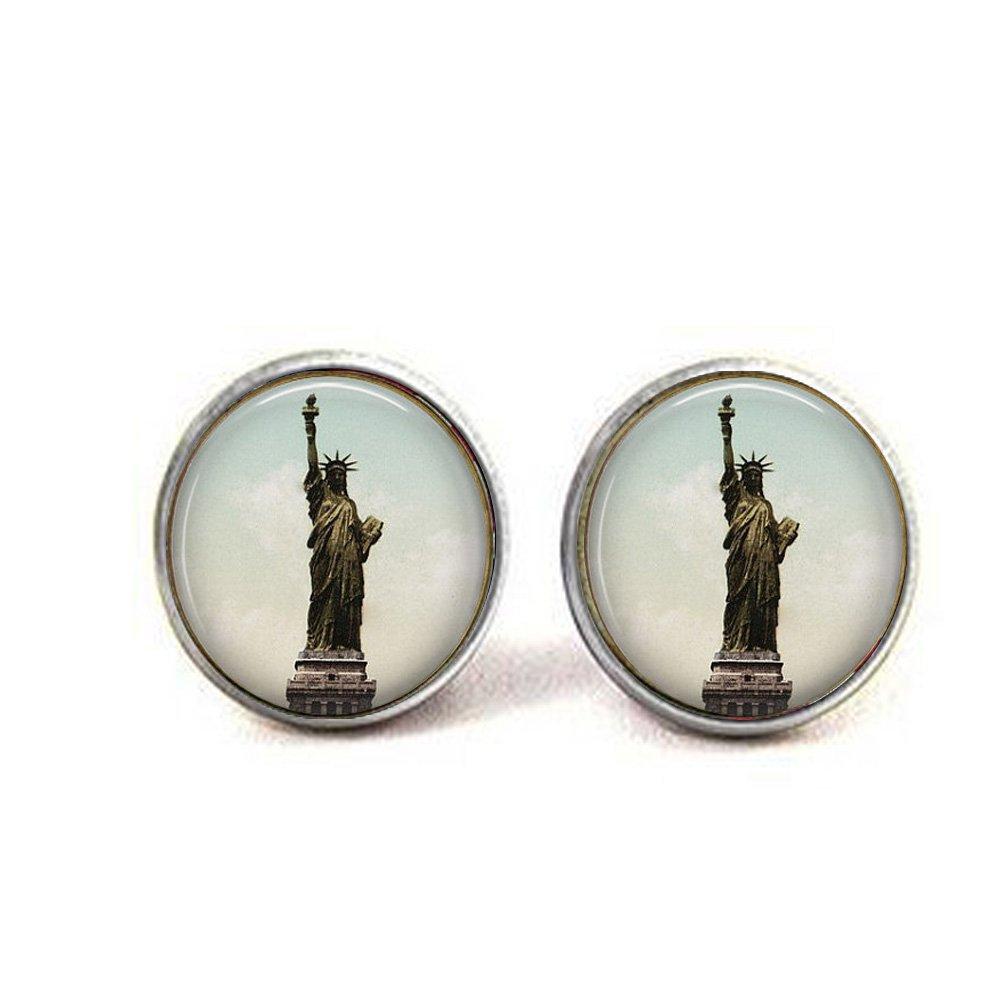 Statue of Liberty Oval Earrings