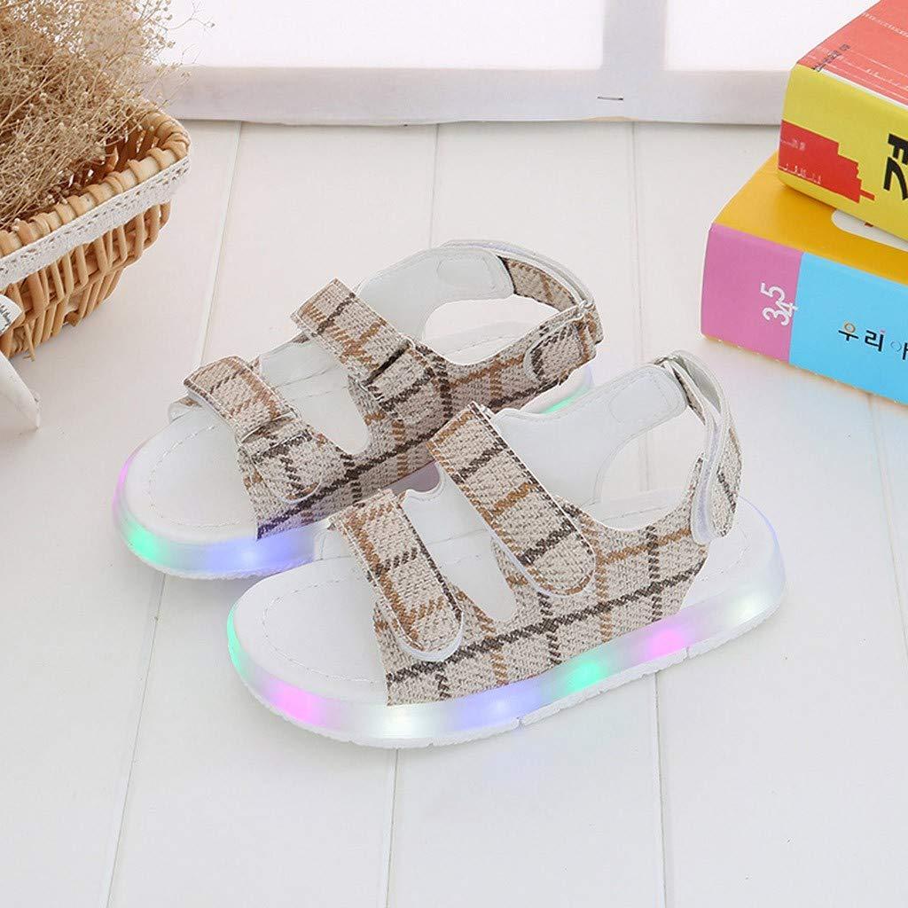 MINGXINGFR Summer Toddler Enfants Sport Gar/çons Filles B/éb/é Sandales Chaussures Lumineuses /À LED Baskets Chaussures Adultes et Enfants