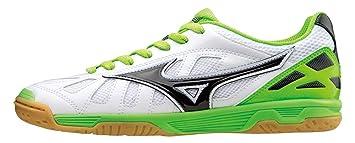 e69f111f59e98 Mizuno Zapatos de deporte Oficial Futbol 2015 2016 Sala Premium IN  Q1GB155074 Blanco Negro Lime
