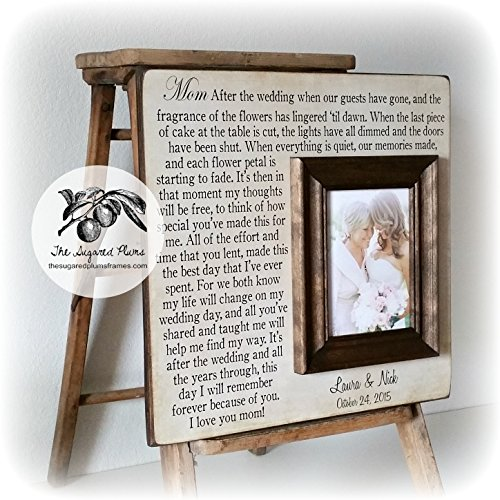 Mother of the Bride Gift, After the Wedding, Wedding Picture Frame, Parents Thank You Gift, Mother of the Groom Gift 16x16 The Sugared Plums