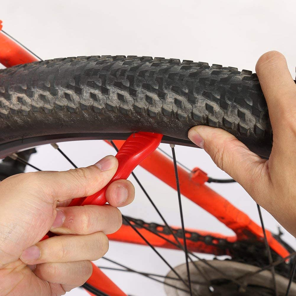 Xrten 3 Pcs Palancas de Neumáticos para Desmontar Bicicletas, Rojo ...