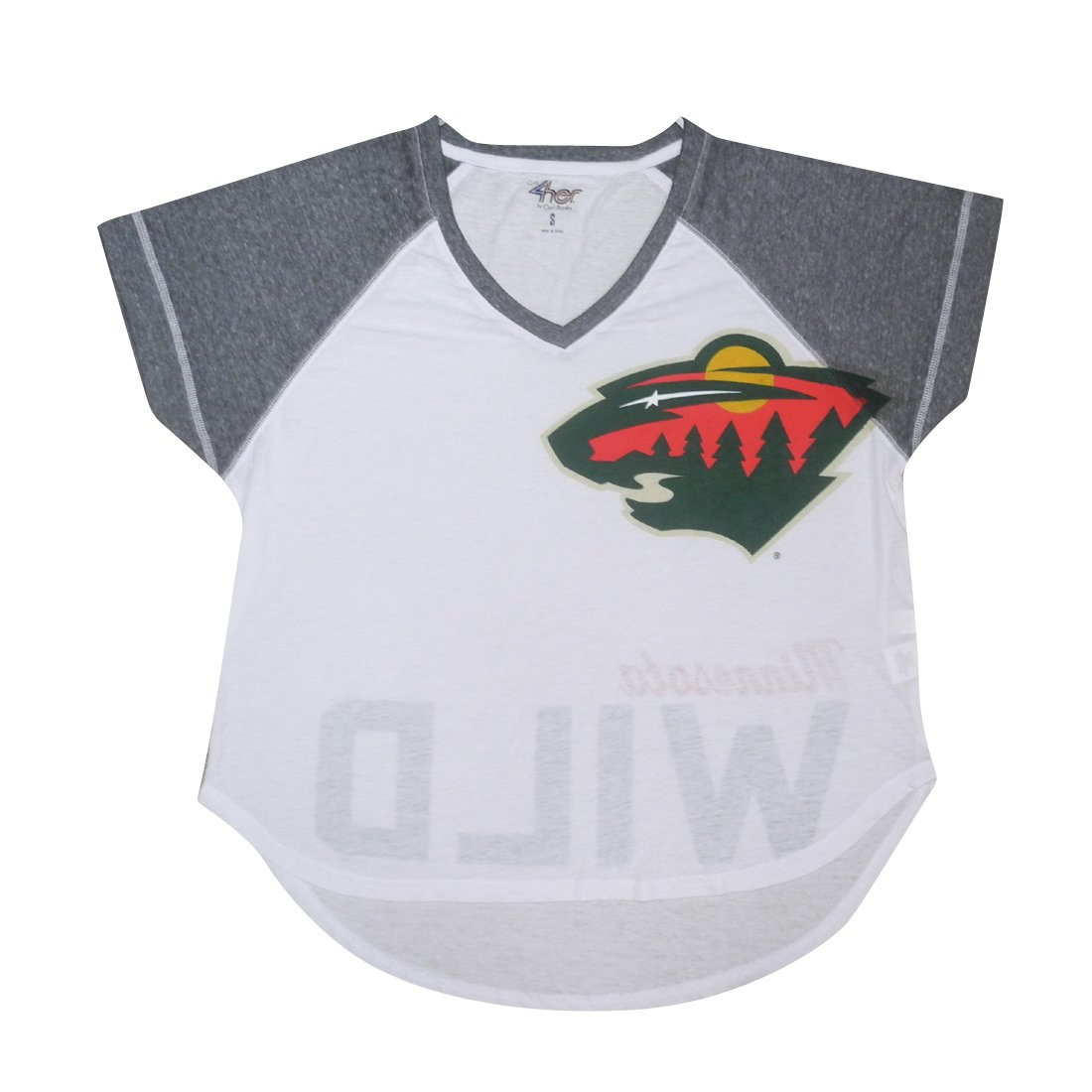 Amazon.com  NHL Womens Minnesota Wild  Athletic Loose Fit V-Neck T Shirt L  White  Sports   Outdoors aacc2c8e76