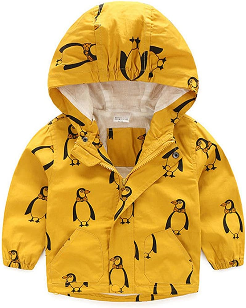 Baby Kids Toddler Animal Trench Coat Pullover Hoodie Windbreaker Jacket Raincoat Winter Outwear