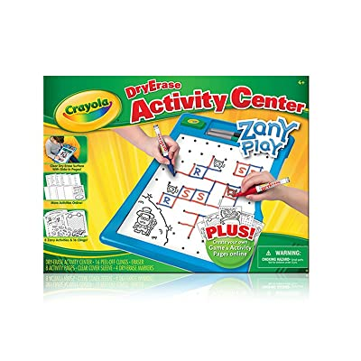 Crayola Dry-Erase Activity Center Zany Play Edition: Toys & Games