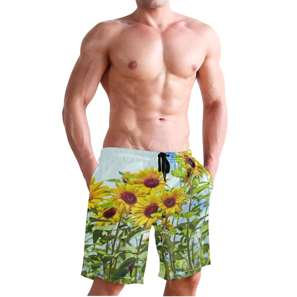 CiCily Men/'s Swim Trunks Cute Sunflower Beach Board Shorts Swimming Short Pants Running Sports Surffing Shorts