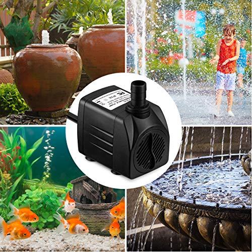 Amazon.com: Homasy 400GPH Bomba de agua sumergible 25W con ...