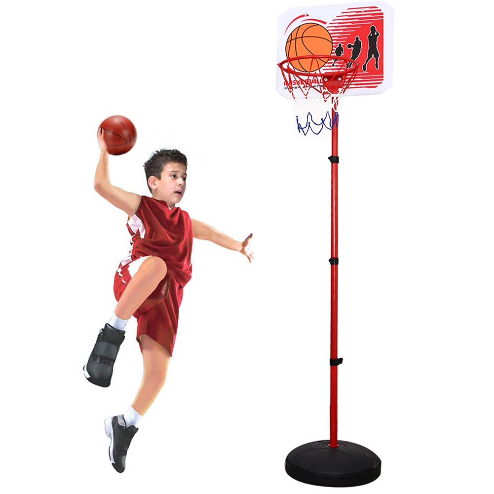 ThinkMax Children Portable Basketball Hoop Stand Backboard Sports Toys (83 Inch) by ThinkMax (Image #1)
