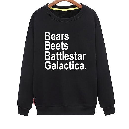 Cinfun Womens Bears Beets Battlestar Galactica Humor Sweatshirt At