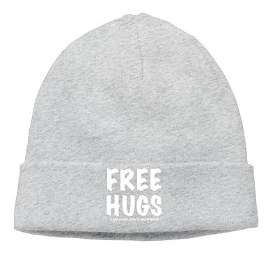 Fashion Unisex Cotton Cap FREE HUGS Bear Hugs Money Funny Beanie Hat  Outdoor Winter Beanies Hat  Amazon.co.uk  Clothing aae7ece5bed