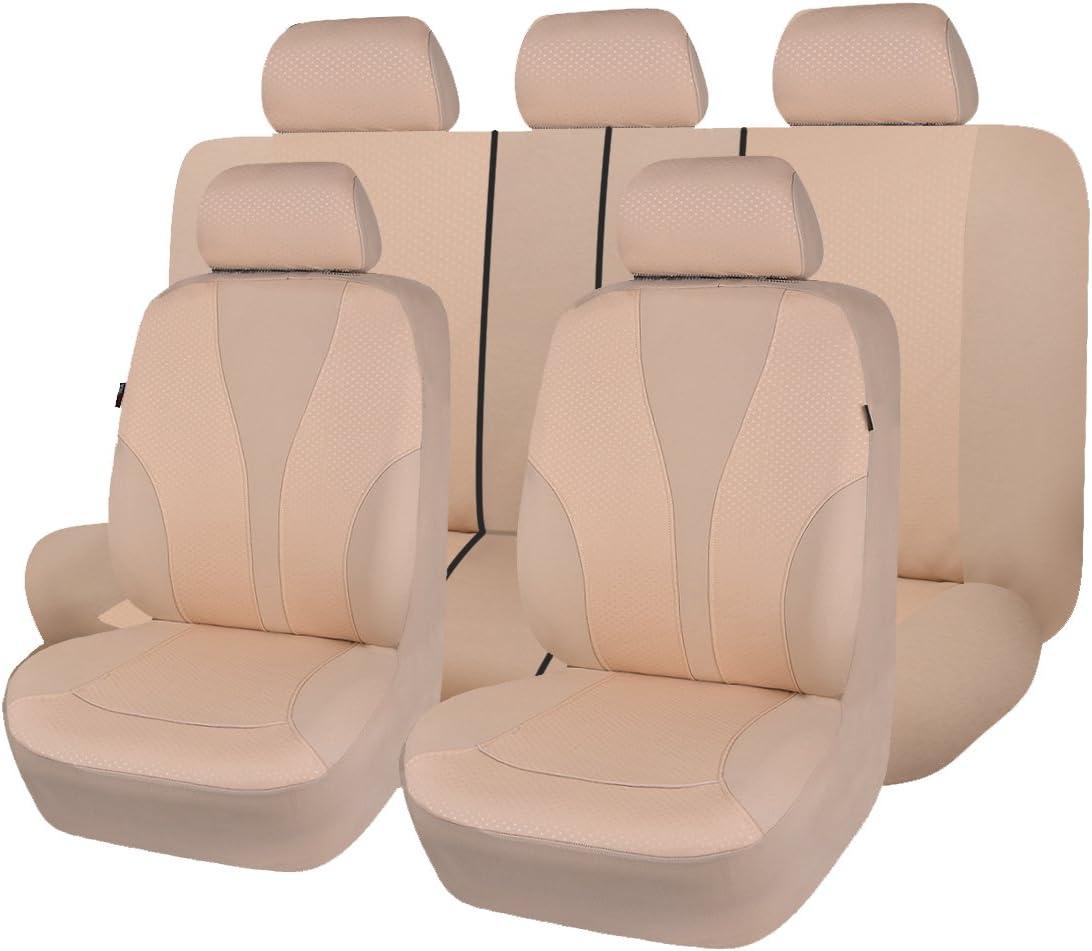 Flying Banner Universal Fundas De Asiento con Airbag Compatible (Beige)