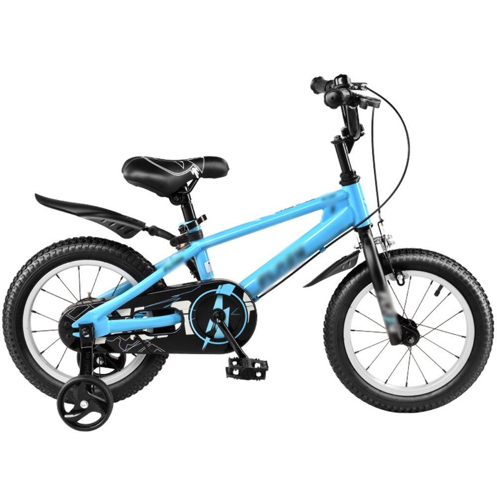FEIFEI 子供用自転車ベビーキャリッジ12/14/16/18インチマウンテンバイクブルーシルバーグリーン環境保護材料ファッションセキュリティ ( 色 : 青 , サイズ さいず : 14 inch ) B07CRLL5M6 14 inch|青 青 14 inch