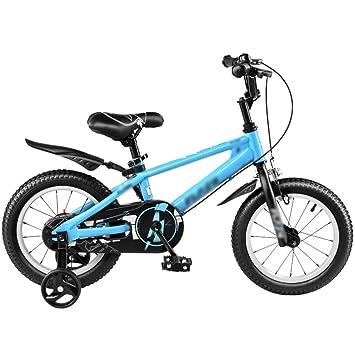 Bicicletas YANFEI Niños Carrito de bebé 12/14/16/18 Pulgadas Montaña Azul