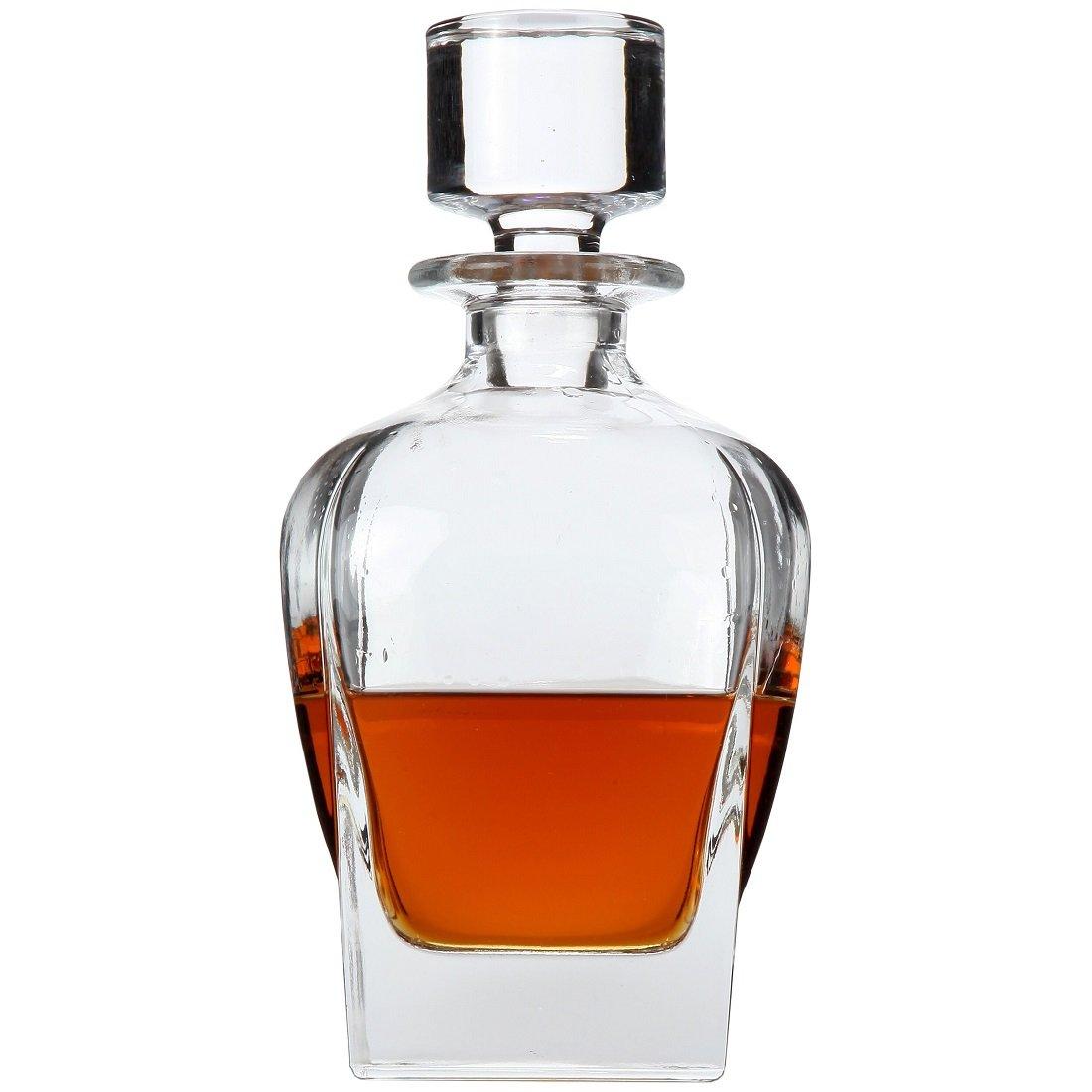 amazoncom  lily's home wine liquor and whiskey decanter with  - amazoncom  lily's home wine liquor and whiskey decanter with glassstopper decanters