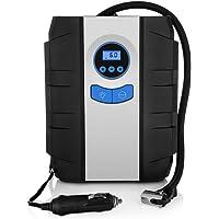 ZEEPIN Flashlight Digital Portable Air Compressors, Tyre Inflator, 12V Air Compressor Tyre Pump, 150 psi Max, Valve Adaptors