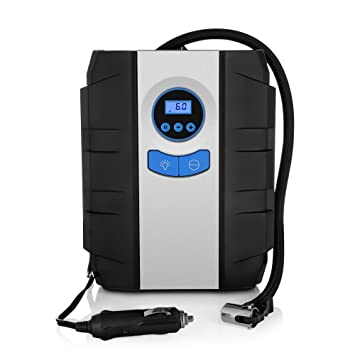 Amazon.es: Compresor de aire digital portátil Zeepin con linterna, inflador de neumáticos, 12 V, máximo de 10, 3 bar, adaptadores de válvula