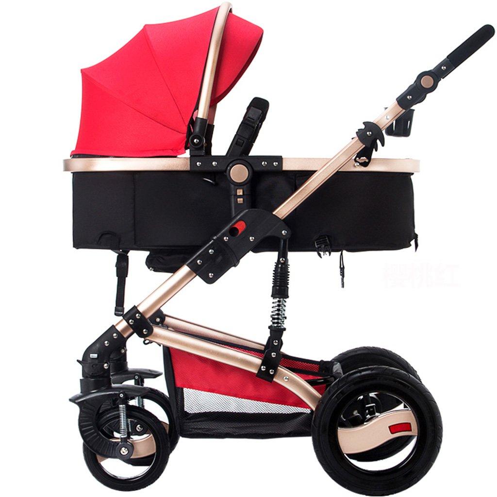 Cochecito de bebé Carro de paisaje alto Puede sentarse y ...