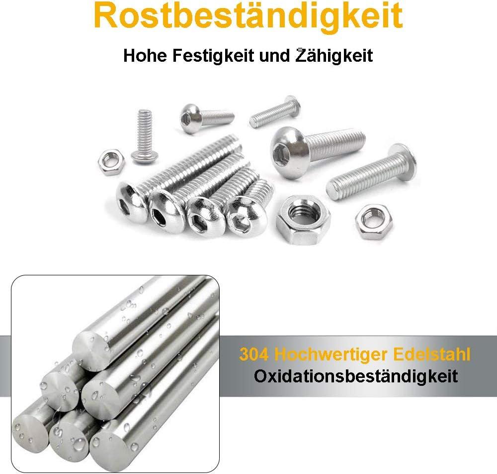 OKBY T-Schlitz Gleitmutter 60 St/ück M4 M5 M6 M8 Befestigungsmuttern f/ür 4545-Aluminiumprofile