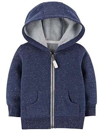 Amazon.com  Carter s Baby Boy Heather Navy Zip-Up Hoodie (3 Months ... aeb34deae62