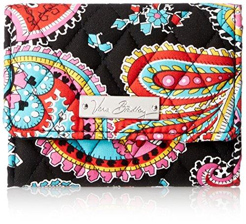 Vera Bradley Petite Trifold Wallet, Parisian Paisley, One Size Parisian Dot