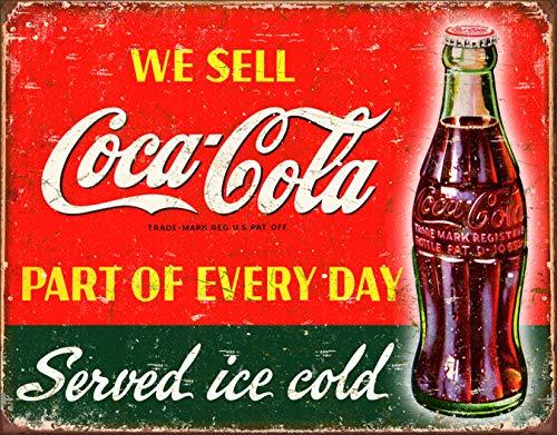 Desperate Enterprises Coca-Cola - Part of Every Day Tin Sign, 16
