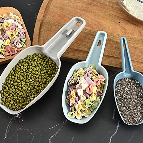 ma/íz pop polvo Mufee harina granos de caf/é y alimentos para mascotas 3 cucharillas de cocina multiusos de pl/ástico para botellas alimentos secos caramelo