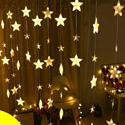 Amazon.com : BBFairy 40 Stars Lights Window String Icicle ...