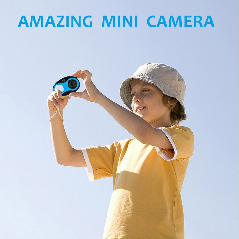 Kids Digital Camera, Funnyletric Mini Digital Video Recorder Camcorder Camera, for Boys Girls Birthday Camera Toy - 12MP HD 1.5'' Colour Screen (Blue) by Funnyletric (Image #7)