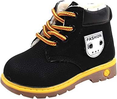Newborn Baby Girl Boy Lace-up Crib Shoes Soft Sole Winter Boots Prewalker Warm Martin Casual Toddler Shoes