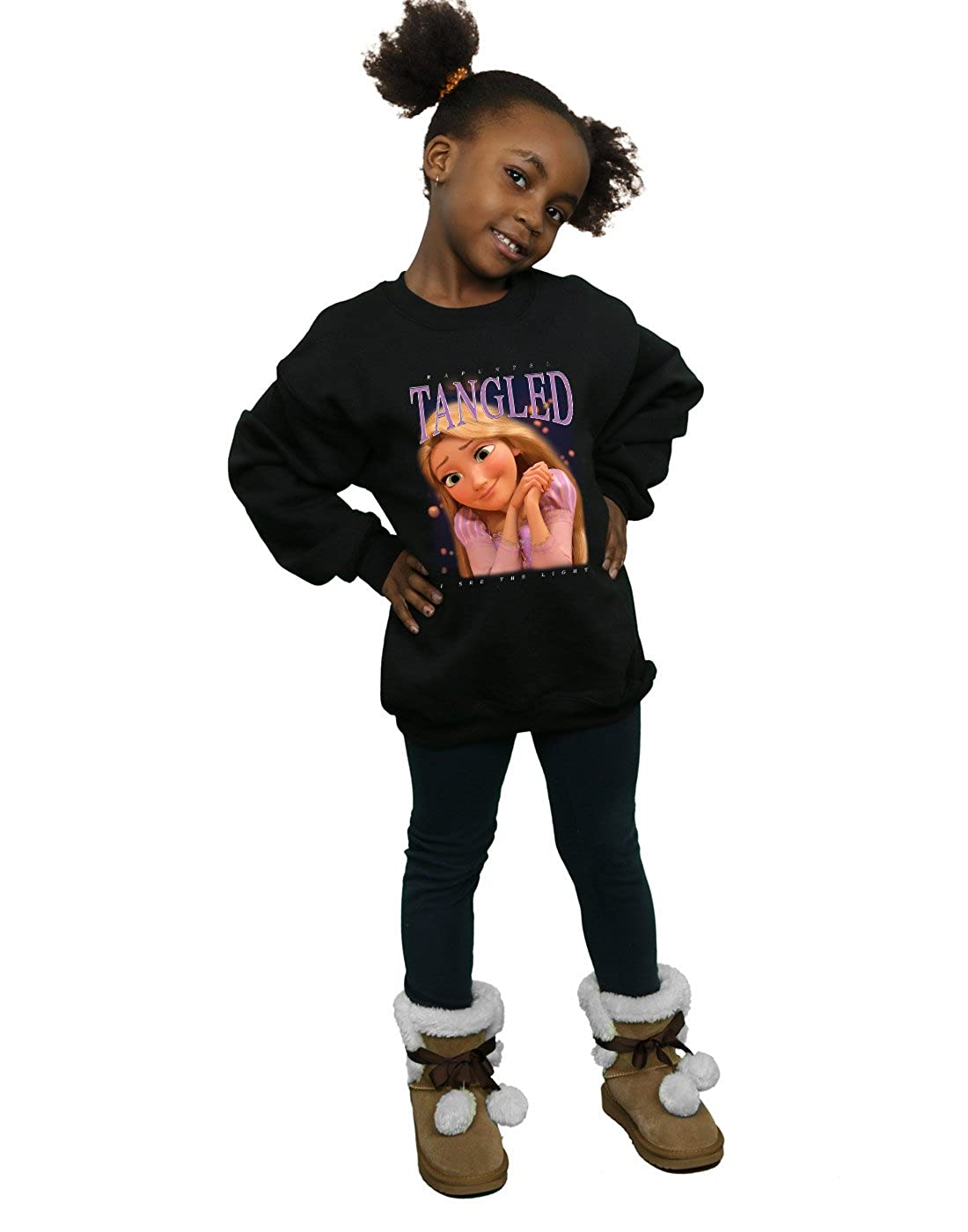 Disney Ni/ñas Tangled Rapunzel Montage Camisa De Entrenamiento