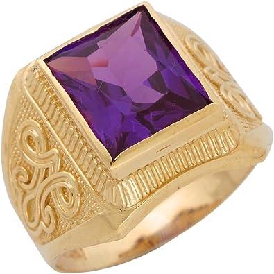 10k or 14k Gold Simulated Alexandrite June Birthstone CZ Ring