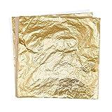 STRESS SPINNER 100 Sheets 5.5'' Imitation Gold Leaf Foil Paper Gilding Craft Mask Transfer Leaf Surface Gilding DIY