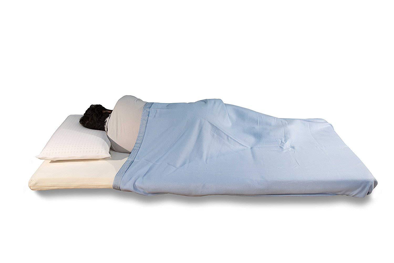 Futon colchón, plegable + 3 cm Viscoelastico con Almohada: Amazon.es: Hogar