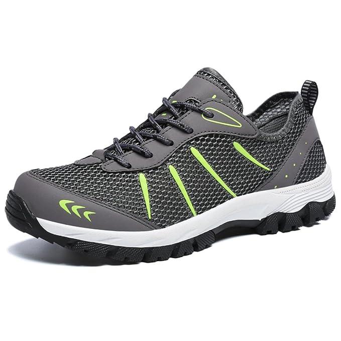 9aecbf659f LDZY Tallas Grandes Zapatos De Senderismo Para Hombre Material De Malla  Exterior Zapatos Antideslizantes Trekking Al Aire Libre,Grey-EU48/UK10.5:  Amazon.es: ...