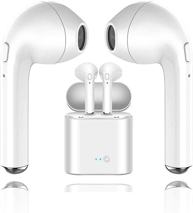 Cuffie wireless I8X-TWS Cuffie sportive Bluetooth in-Ear V5.0 Cuffie stereo HiFi wireless HD con bassi HD con scatola di ricarica Impermeabile/resistente al sudore per tutti gli smartphone