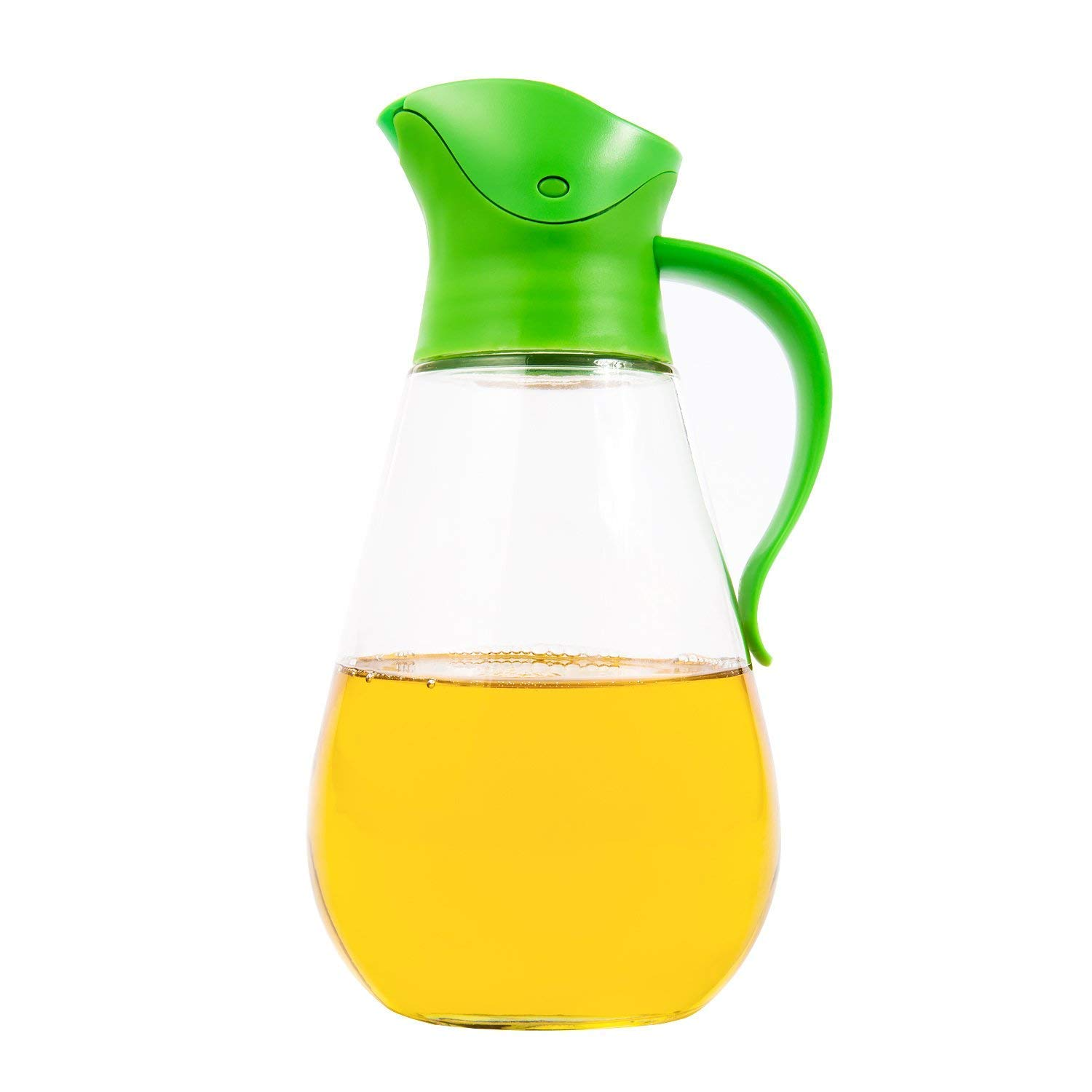 Leak Proof 18 6oz Cominhkpr152854 Automatic Stopper Thrich Non Drip Glass Oil Vinegar Container And Dispenser Bottle With Automatic Cap Stainless Steel Nozzle And Non Slip Handle Precise Pour Spout