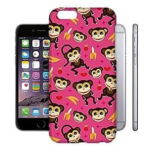 Phone Case For Apple iPhone 6 - Monkeys Go Bananas Pink Back Cover