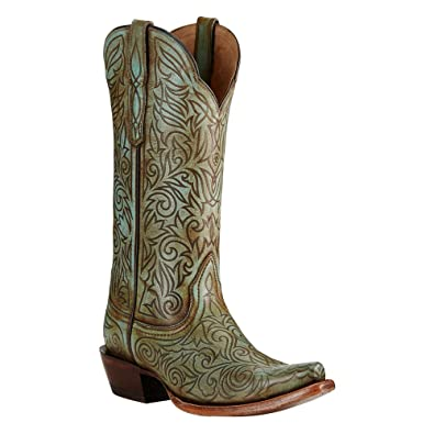 Ariat Womens Sterling New West 6.5 B Naturally Turquoise