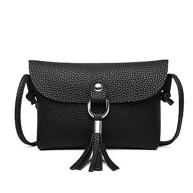 ed94303345 WanYangg Femme Classique Gland Sac À Bandoulière Pu Cuir Petit Sac  Bandoulière Messenger Crossbody Bag Sac