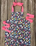 Handmade Giraffe Print Apron for Tween Girls by Sara Sews