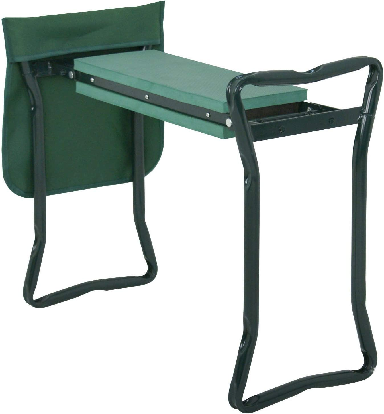 Ngernlaimaa Foldable Kneeler Garden Kneeling Bench Stool Soft Cushion Seat Pad w Tool Pouch
