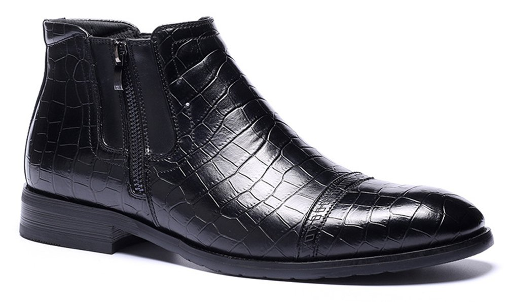 MHB Men's High-Top Lace up Chukka Ankle Boot 12in Black