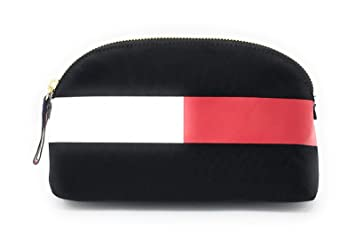 13918200ed33 Amazon.com : Tommy Hilfiger Large Travel Pouch Cosmetic Case (Black ...
