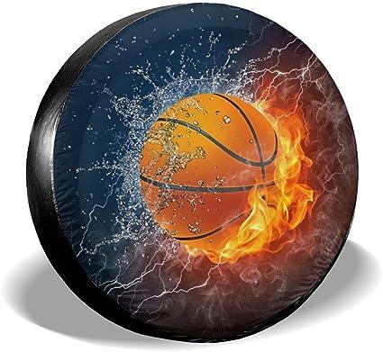 Cubierta de la llanta de refacción Pelota de baloncesto en llamas ...