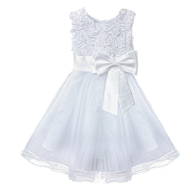 Ropa de descanso para niñas diseño de flores rollo de tul vestir sin mangas fiestas infantiles a partir de e instrucciones para hacer vestidos 2-12 ...