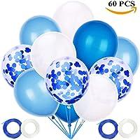 JOJOR Globos Azules y Blancos,60 Piezas Azul Globos